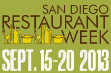 San Diego Restaurant Week – Fall 2013