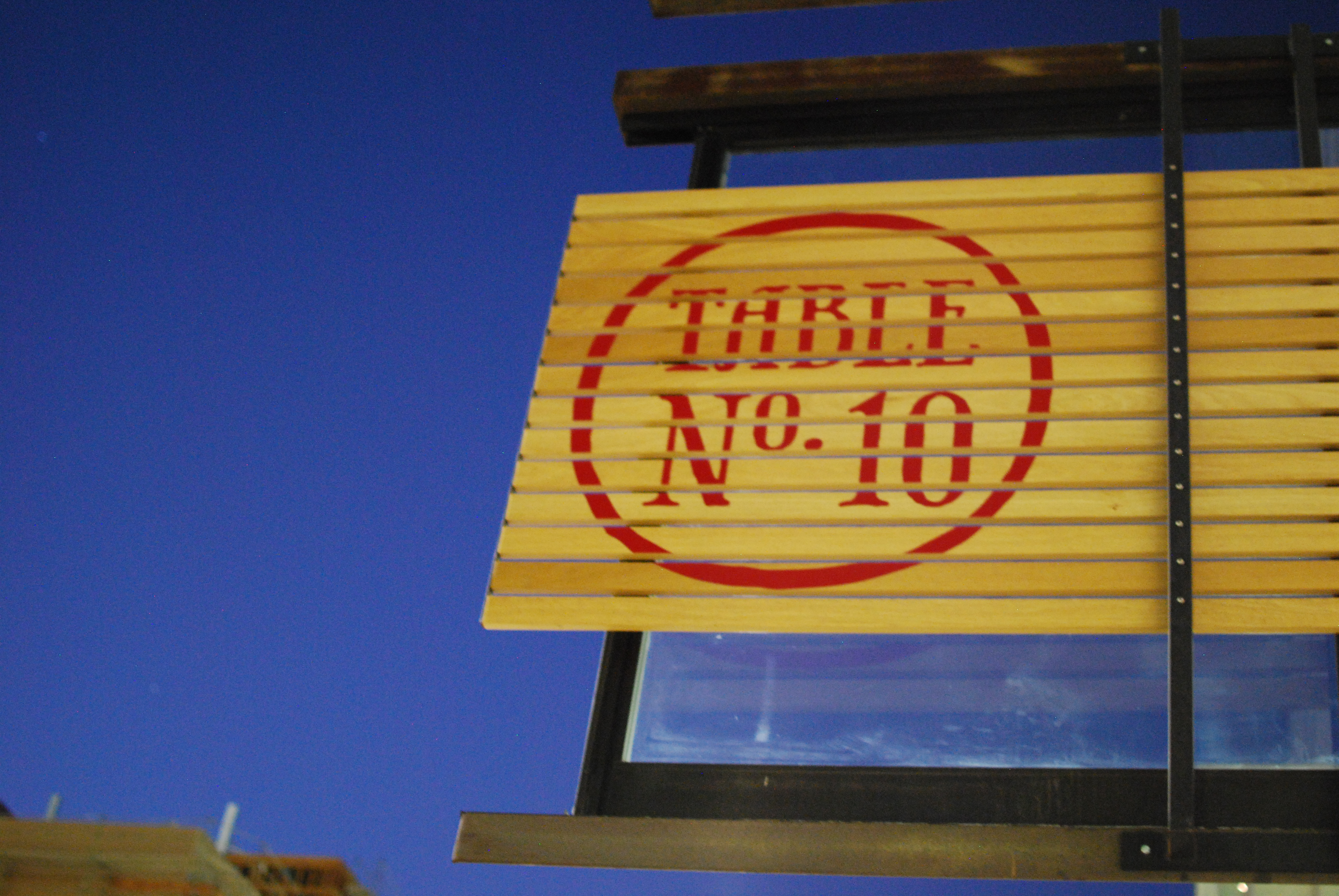 Table No. 10 (Downtown San Diego)