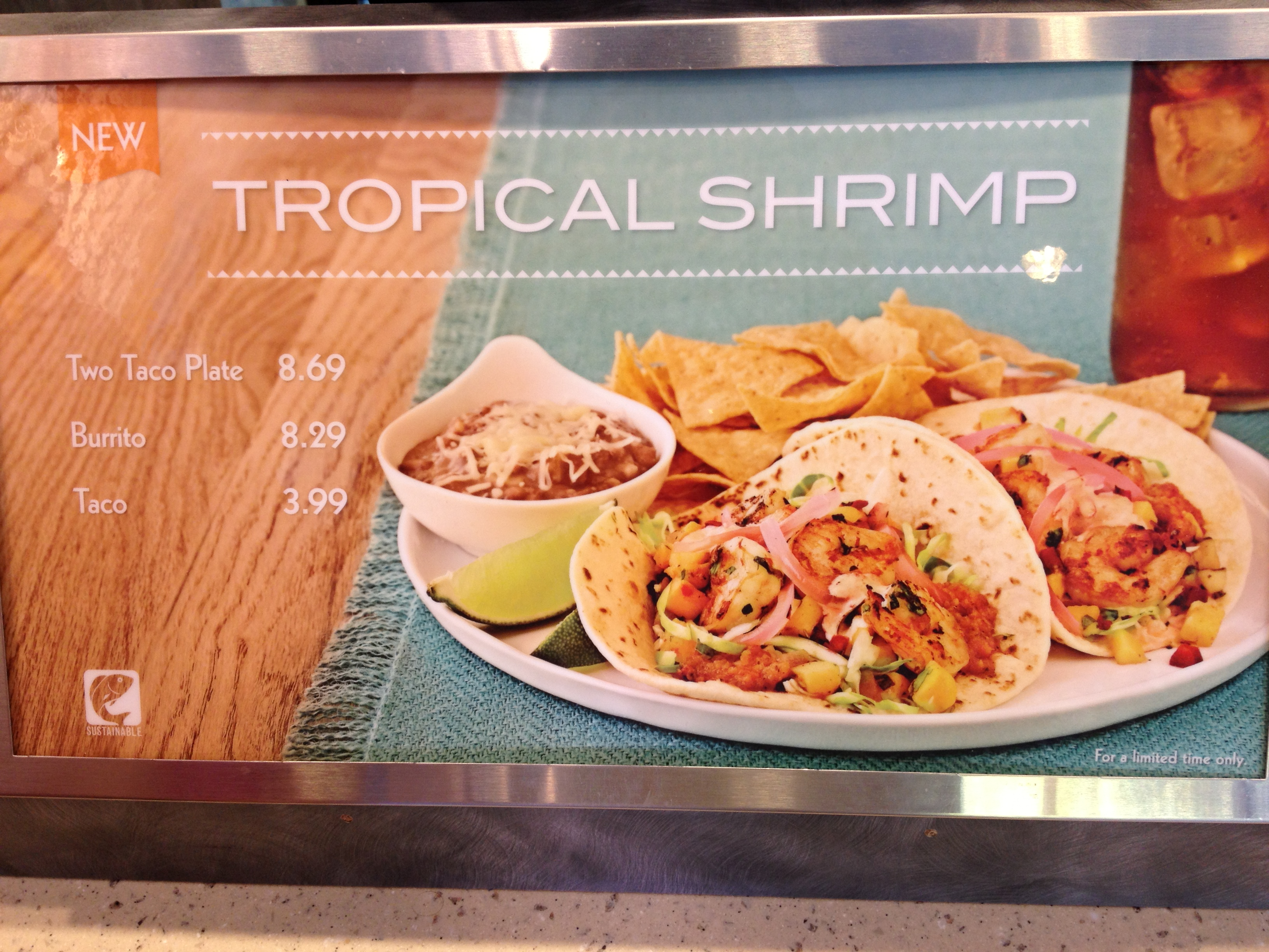Rubios New Tropical Shrimp Burrito and Tacos (Santee)